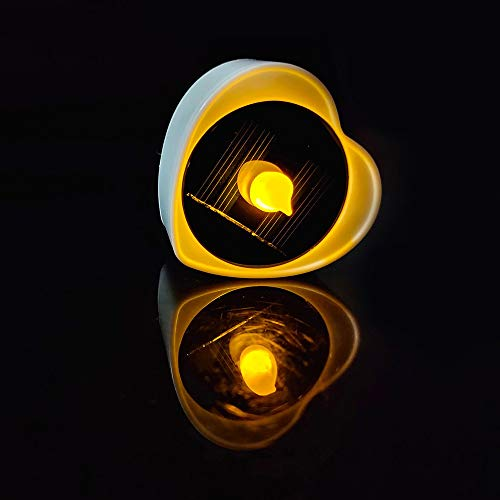 ShangSky 6 unids solar LED vela electrónica luz luz de batería incorporada luz impermeable al aire libre para boda Navidad Halloween regalos decorativos