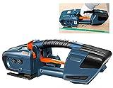 HPDOM Flejadora de Soldadura eléctrica Máquina flejadora de Cinta automática cargada Máquina flejadora portátil de Mano con calefacción para PP/Pet (Batería Dual de 4000 mAh)