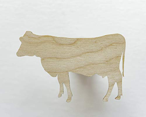 Unfinished wood shapes - Cow shape  Cow cut out  Wooden cutouts  Farm animal cut outs