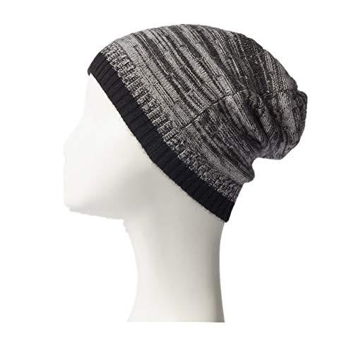 レディース帽子ニットフリース裏地カフ付きサーマル冬ボブルを温めます UVプロテクション (Color : Brown)