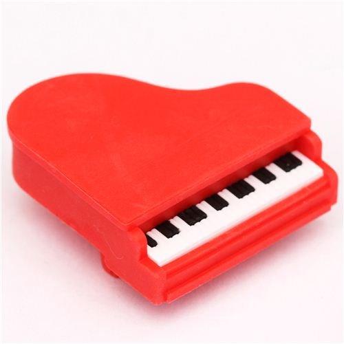 roter Klavier Flügel Radiergummi von Iwako aus Japan