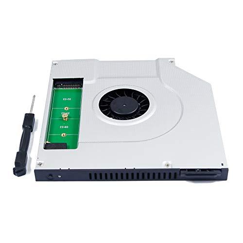 Ventilatore di raffreddamento interno per computer portatile Dell Latitude 15 14 E6430 E6420 E6440 E6410 E6540 E5540 E5440 3440 3540 Notebook PC 2a M.2 NGFF SSD Caddy, Seconda unità a stato solido