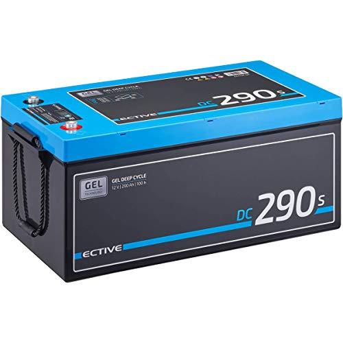 ECTIVE 290Ah 12V GEL Versorgungsbatterie DC 290s mit LCD-Display Solar-Batterie mit integrierten Nachfüllpacks