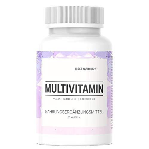 West Nutrition hochdosiert Multivitamin Kapseln - reich an 13 wertvollen Vitamine und 14 Mineralstoffe - Immunsystem stärken mit vegan Nahrungsergänzungsmittel - geeignet für Männer, Frauen und Kinder