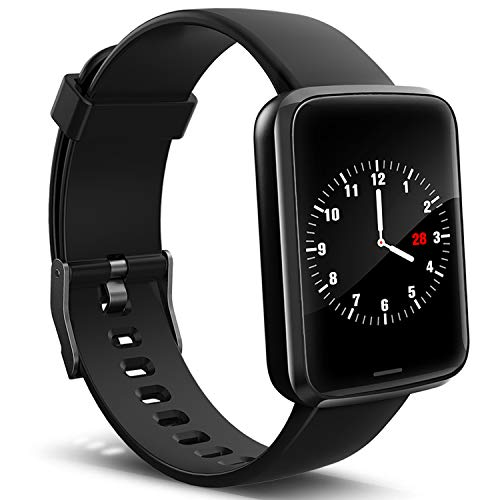 Lintelek Smart Watch, Smartwatch Blood Pressure Monitor, Fitness Tracker HR with Sleep Monitor Compatible with iPhone, Samsung and Android Phones for Men, Women and Gifts