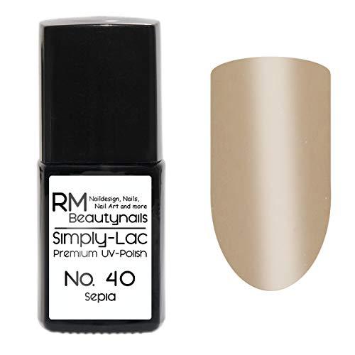 Simply-Lac Premium UV-Lack Nr. 40 Sepia Beige Nude Herbst Farbe 10ml Nagelgel UV-Nagellack