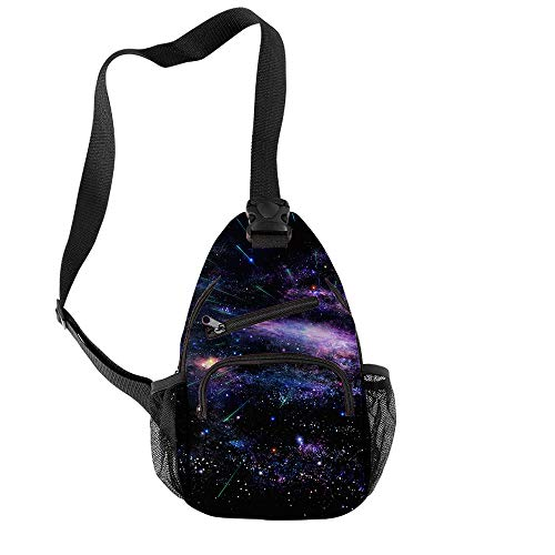 JJZZ Anime Cosplay Fantasy Starry Sky Student School Bag Shoulder Bag Canvas Shoulder Bag Travel Bag 1