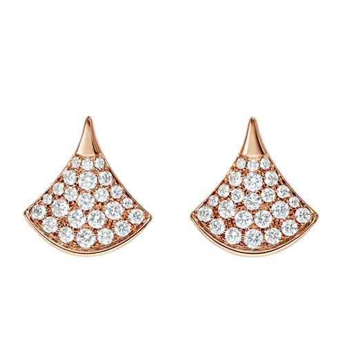 XKMY Pendientes de tuerca para mujer, plata de ley 925, pendientes de abanico de nácar, con tachuelas de diamante, joyería de personalidad de alta gama (Color de la gema: E-002)