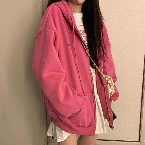Moda Sudaderas Jersey Sweater Sudaderas con Capucha De Mujer Vintage Color Sólido...