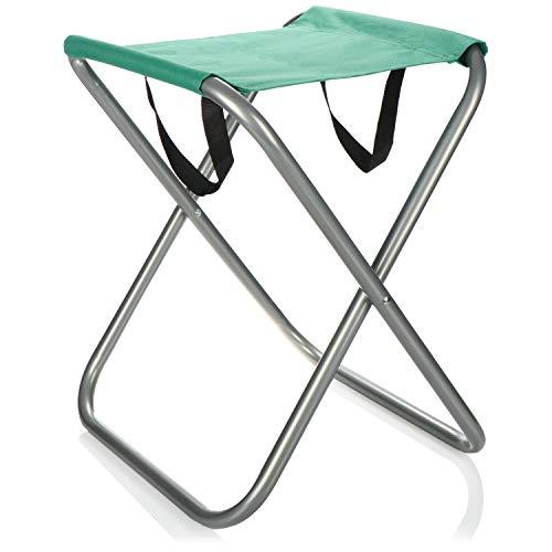 com-four® Campinghocker faltbar - Tragbarer Klapphocker - Klappstuhl klein für Camping, Angeln, Picknick, Wandern, Strand (grün)