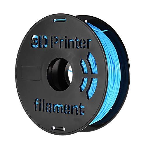 Festnight 1KG / Spool 1.75mm Flexible Material de impresión de filamento TPU Suministros Blanco, Negro, Transparente para impresora 3D Plumas de dibujo azul claro