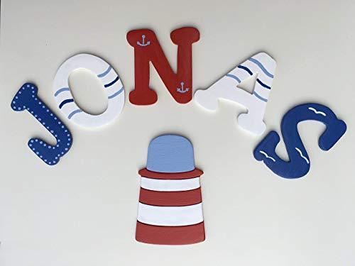 Tolle Holzbuchstaben für Kinderzimmer-Tür, Maritim