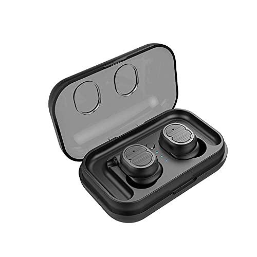 HiFi Touch Auriculares Bluetooth 5.0 4D Cabina de Carga Auricular Deporte Real Inalámbrico Coche Bluetooth Auriculares a Prueba de Agua a Prueba de Agua (Color: Rojo) YXF99 (Color : Black)