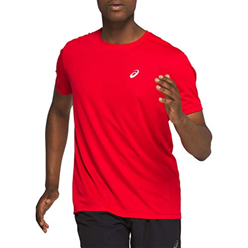 Asics Katakana SS Top Camiseta, Hombre, Classic Red, XS