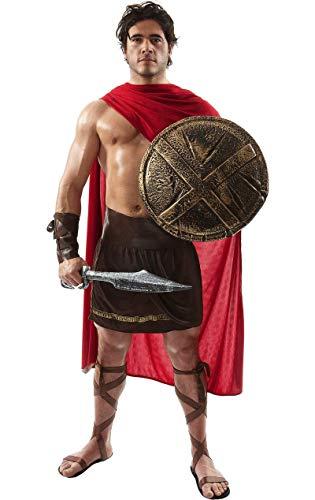 Disfraz de Guerrero Espartano Gladiador Romano Soldado Historia de Película para Hombres