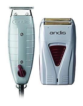 Andis 17195 Finishing Combo Professional T-Outliner Trimmer + Pro Foil Lithium Titanium Foil Shaver