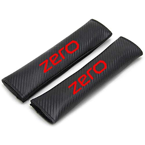 WNMASS 2pcs Carbon Fibre Car Seat Belt Pads Cover, with Brand Logo, for M-G Zero, Seat Shoulder Strap Pad Covers