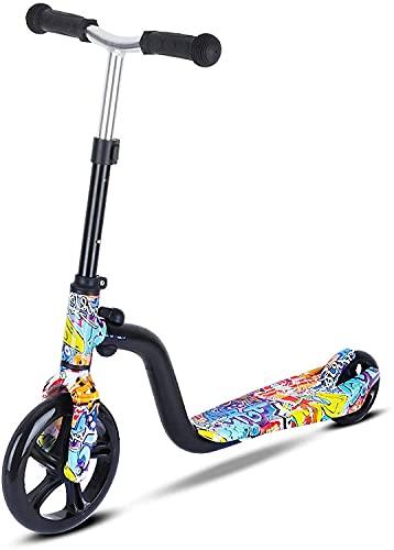 BSQT Scooter liviano con Ruedas Grandes para niños Felices Juguetes Deportivos Plegables de Altura Ajustable. Triciclos para niños para niños pequeños Edades 3-8 (Color : A)