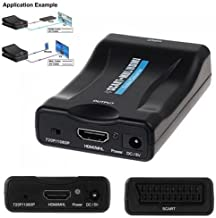 1080P SCART to MHL HDMI Video Audio Upscale Converter Adapter HD TV DVD Sky Box