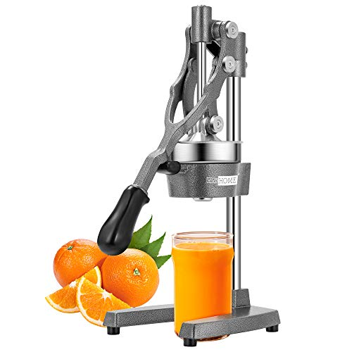 VIVOHOME Extra Tall Heavy Duty Commercial Manual Hand Press Citrus Orange Lemon Juicer Squeezer Machine Grey