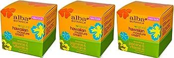 Alba Botanica Jasmin & Vitamin E Moisture Cream  3 oz  Set of 3