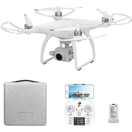 KLJJQAQ GPS Drone, 5G WiFi FPV RC Drone with 4K HD Camera, 2 Axis Gimbal, Brushless RC Quadcopter with Follow Me, Headless Mode, Altitude Hold, 2 Battery and Carrying Case for Adults,1 Battery