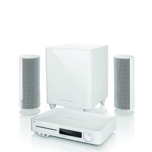 Harman Kardon BDS 477W 2.1 3D-Blu-ray System mit 200 watt Subwoofer, Bluetooth mit EU- und UK-Netzstecker