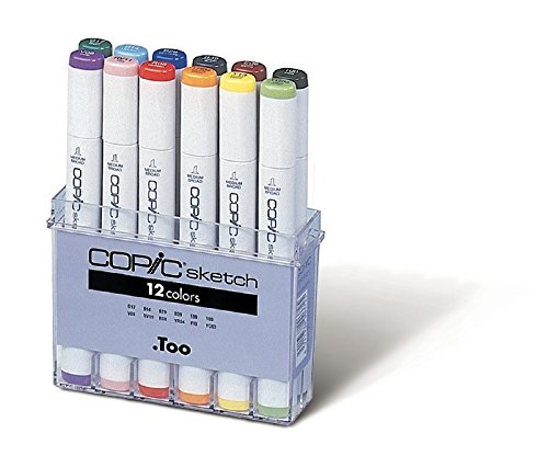 Copic Markers 12 Piece Sketch Basic Set