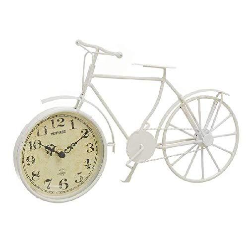 Dcasa Forma Bici Pared Relojes de Chimenea Decoración del hogar Unisex Adulto, Crema (Crema), única