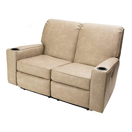 Camper Comfort 58' RV Theater Seat Recliner Color: Skamper Linen | RV Furniture