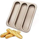 OGIBRIDI Teglia per Baguette Stampo Baguette Antiaderente Teglia Pane Forata Stampo Perforato Acciaio al Carbonio Addensare Non Ferirsi Le Mani