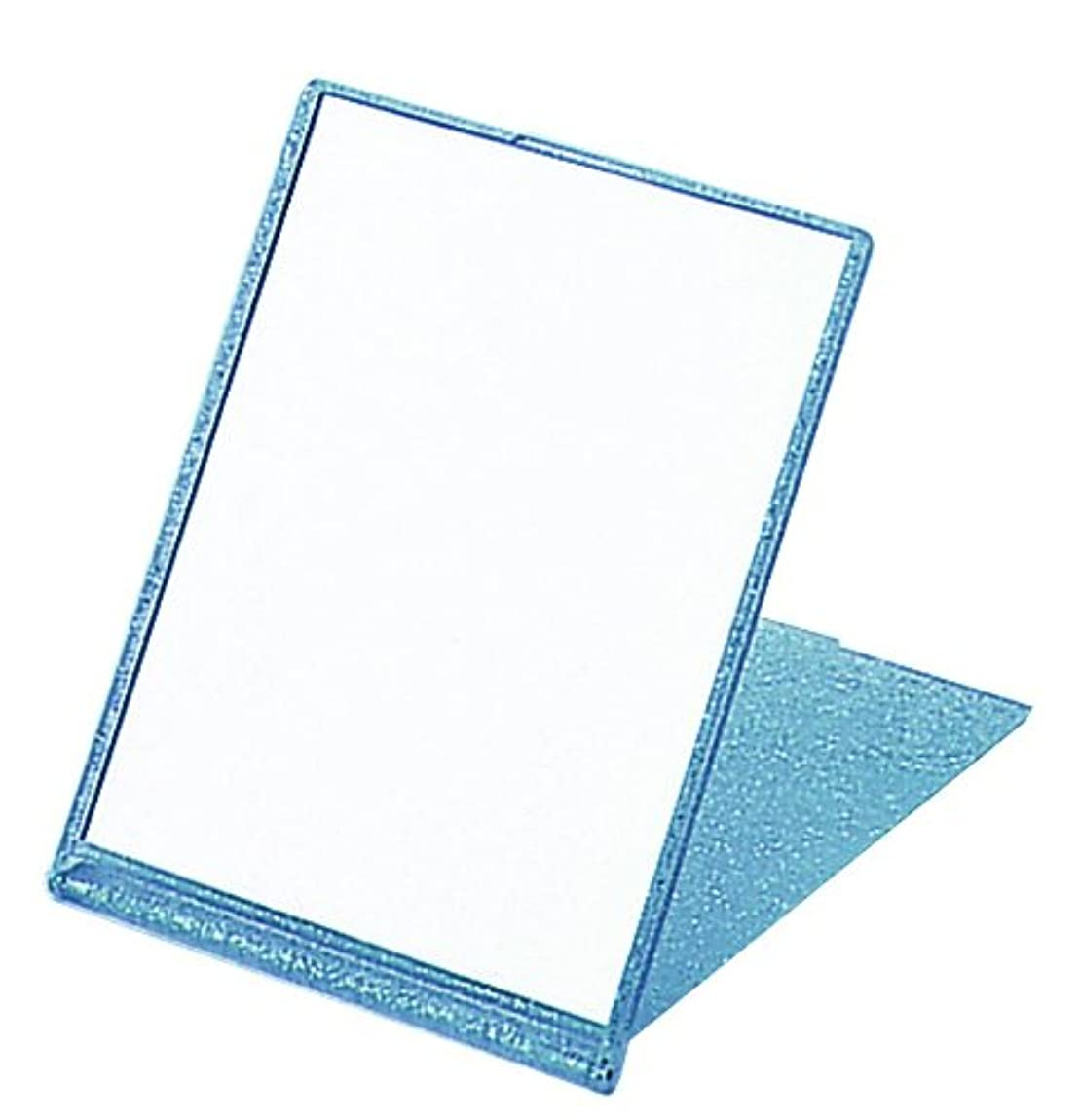 日記誇大妄想考古学的なラメ入り コンパクトミラー L ブルー YLA-900
