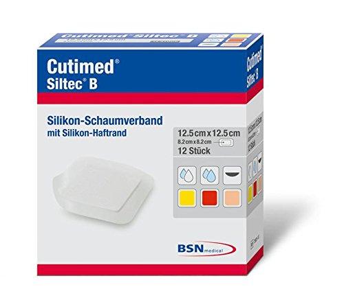 Cutimed 7263113 Verbände, Siltec B, 12,5 cm x 12,5 cm (12-er pack)