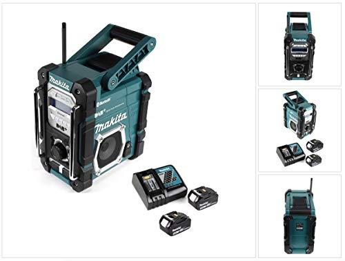 Makita DMR 112 RT Akku Baustellen Radio 7,2-18V Bluetooth DAB+ + 2x 5,0Ah Akku + Ladegerät