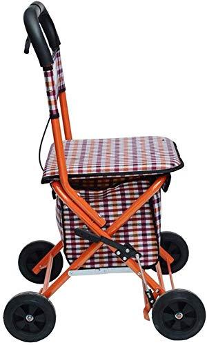 Yuany Einkaufstrolley,Senioren Rollator Walker - Faltbarer Einkaufswagen mit Sitz - Mobilitätshilfe für Erwachsene, Senioren, Senioren & Behinderte