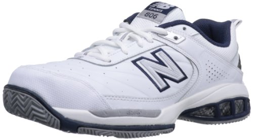 New Balance Men's mc806 Tennis Shoe, White, 7 4E US