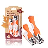 HIGH'S Ergonomics Stainless Steel Sharp Nail Clipper Cutter Set for Fingernail&Toenail and Women&Men with Silicone Handle 2PCS