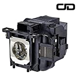 CJD ELP88 Replacement Projector Lamp for Elplp88 Epson Powerlite Home Cinema 2040 1040 2045 740HD 640 EX3240 EX5250 EX7240 EX9200 EX5240 VS240 VS340 VS345 97H 98H 99WH 955WH X27 Lamp Bulb Replacement