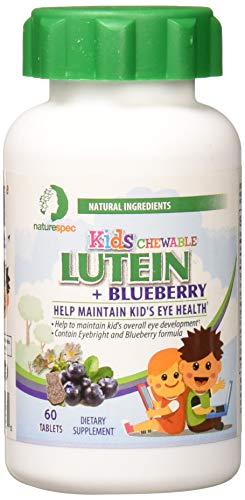 Nature Spec Kids Chewable Lutein Premium Blueberry Flavor Taurine...