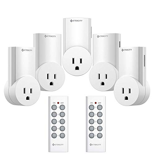 Etekcity Upgraded Version Wireless Remote Control Plug Electrical Outlet Switch Wireless Remote Light Switch Compatible with Classic Version White 5LX S