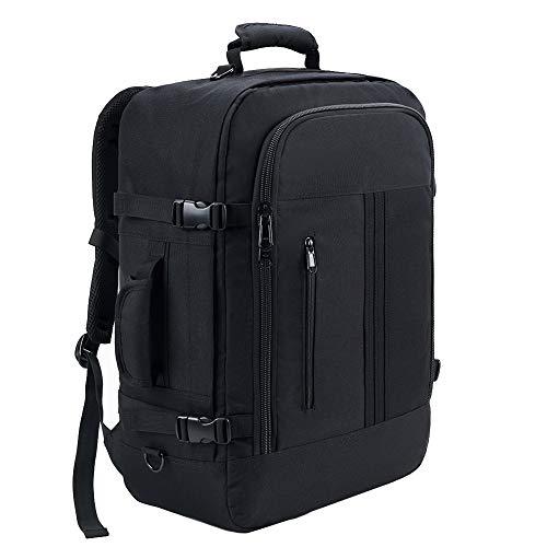 KALIDI Handgepäck Kabinenrucksack Rucksack leicht Reiserucksack Flugzeug Kofferrucksack Travel Backpack (schwarz)