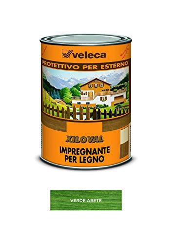 Veleca XILOVAL Verde Abete - lt. 1 - IMPREGNANTE PROTETTIVO LUCIDO DA ESTERNO PER LEGNO