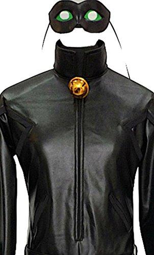 VersusModa Simil Cat Noir Ladybug Herren-Overall Cosplay Simil Chat Noir Kostüm CHAN05, Schwarz S
