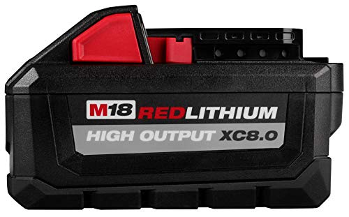 MILWAUKEE'S 48-11-1880 M18 REDLITHIUM HIGH OUTPUT 18v 8.0 Ah Lithium-Ion Battery Pack