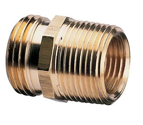 Nelson Raccord de tuyau industriel en laiton pour tuyau femelle vers tuyau femelle NPT 3/4\