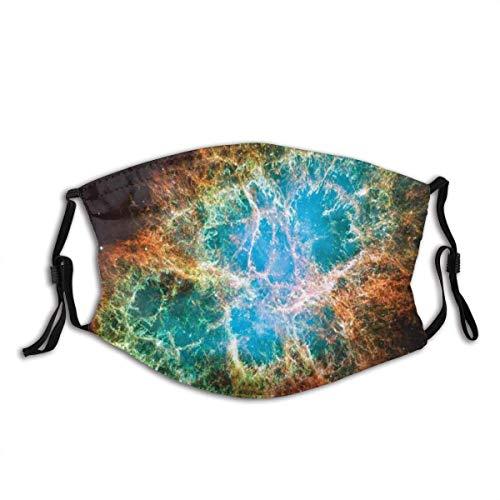 Mundschutz Nebula Supernova Stars Cosmos Print Gesichtsschutz Waschbar Wiederverwendbarer, Fahrrad Unisex Waschbarer und wiederverwendbarer Gesichtsschutz