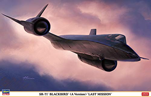 ハセガワ 1/72 アメリカ空軍 SR-71 ブラックバード (A型) ラストミッション プラモデル 02327
