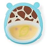 Skip Hop Baby Self-Feeding Training Dishes: Microwave and Dishwasher Safe Training Plate, Giraffe