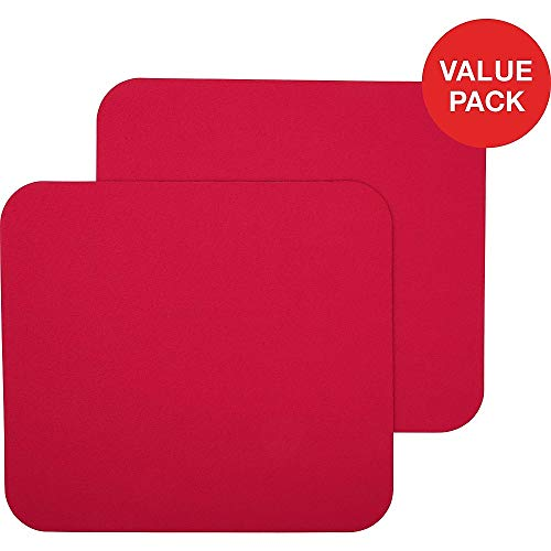 STAPLES 2498467 Maroon Mouse Pad 2 Count Value Pack