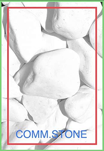 Generico Sasso Ciottolo Bianco Brillante Marmo Thassos. Diametro cm. 4-8. Confezione da kg.7.00.